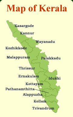 Kerala Travel Map